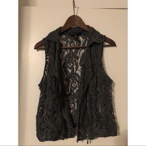 Adorable lace vest!